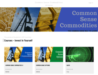 common-sense-commodities.thinkific.com screenshot