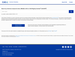 commonchemistry.org screenshot