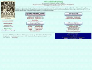 commonprayer.org screenshot