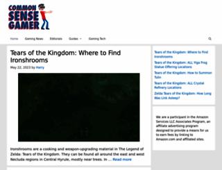 commonsensegamer.com screenshot