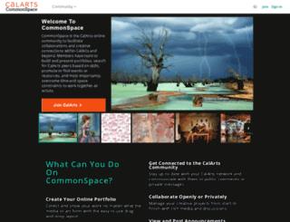 commonspace.calarts.edu screenshot