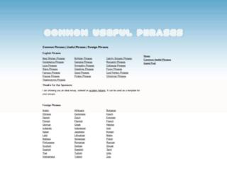 commonusefulphrases.org screenshot