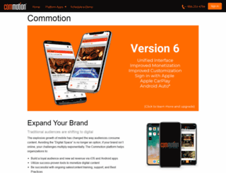 commotion.com screenshot