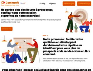 commsoft.fr screenshot