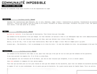 communaute-impossible.net screenshot