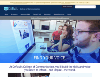 communication.depaul.edu screenshot