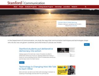 communication.stanford.edu screenshot