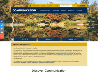 communication.ucdavis.edu screenshot