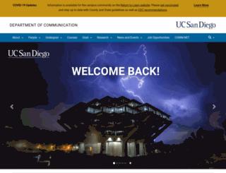 communication.ucsd.edu screenshot