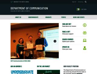 communication.usf.edu screenshot