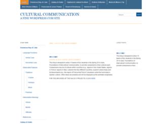 communication272spring2014.wordpress.com screenshot