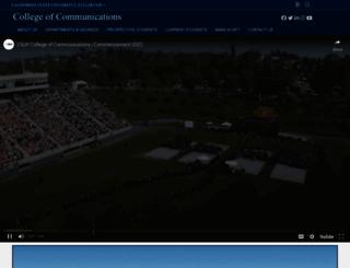 communications.fullerton.edu screenshot