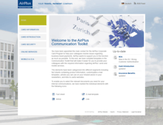 communicationtoolkit.airplus.com screenshot