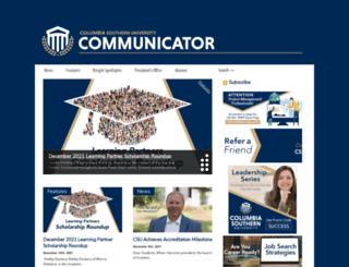 communicator.columbiasouthern.edu screenshot