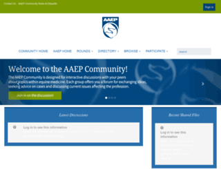 communities.aaep.org screenshot
