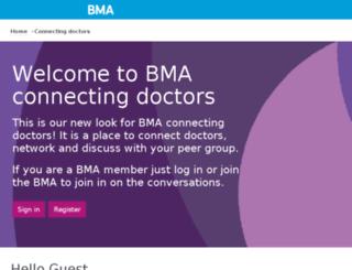 communities.bma.org.uk screenshot
