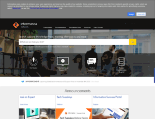 communities.informatica.com screenshot