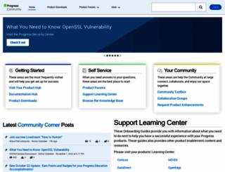 communities.progress.com screenshot