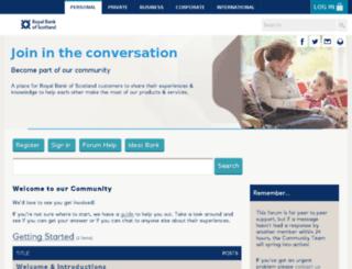 communities.rbs.co.uk screenshot