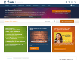 communities.sas.com screenshot