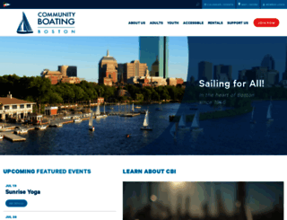 community-boating.org screenshot