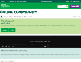 community-preview.macmillan.org.uk screenshot