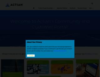community.actian.com screenshot