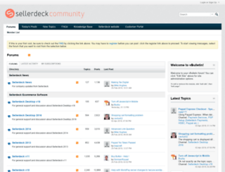 community.actinic.com screenshot