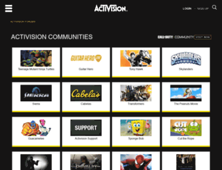 community.activision.com screenshot