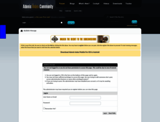 community.adonisindex.com screenshot