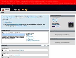 community.aegirproject.org screenshot