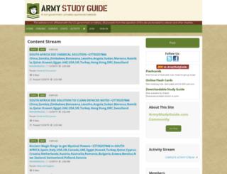 community.armystudyguide.com screenshot