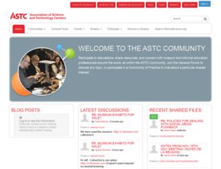 community.astc.org screenshot