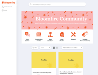 community.bloomfire.com screenshot