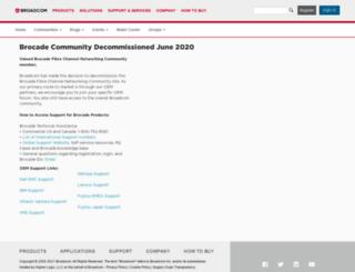 community.brocade.com screenshot