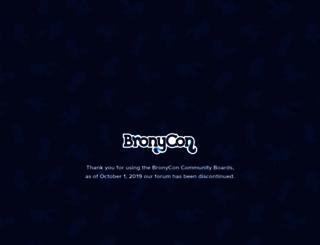 community.bronycon.org screenshot