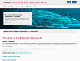 community.ca.com screenshot