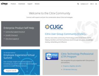 community.citrix.com screenshot