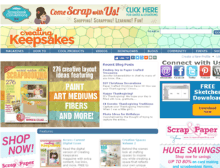 community.creatingkeepsakes.com screenshot