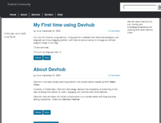 community.devhub.com screenshot