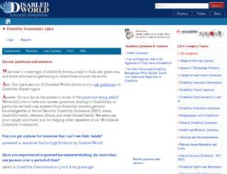 community.disabled-world.com screenshot