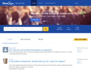 community.docusign.com screenshot