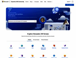 community.dynamics.com screenshot