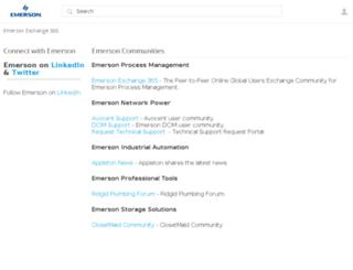 community.emerson.com screenshot