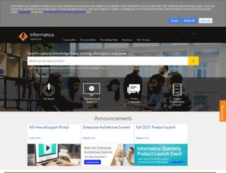 community.informatica.com screenshot