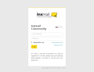 community.inxmail.de screenshot