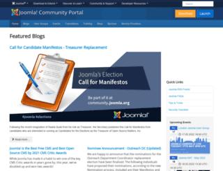 community.joomla.org screenshot