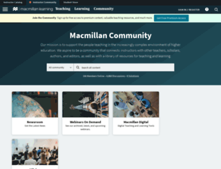 community.macmillan.com screenshot