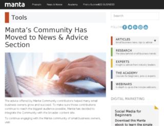 community.manta.com screenshot