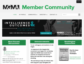 community.mgma.com screenshot